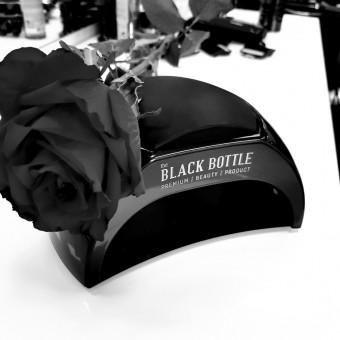 Черна UV/LED лампа the BLACK BOTTLE с падащо, метално дъно